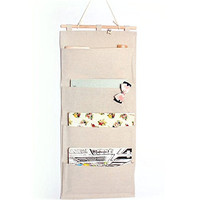 Professional High Quality Cotton Home File 4 Pocket Hanging Wall Organizer