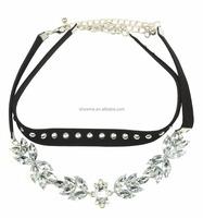 amazon 2017 hip hop jewelry studded choker fashion jewelry wholesale hip hop bling jewelry