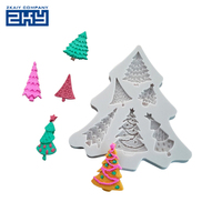Food grade Christmas trees silicone for candy sugar chocolate decoration bake tools fondant mold cake mould