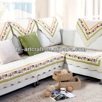 Country Side Embroidery Sofa Back Covers SC009p