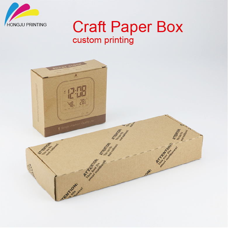 colorful logo custom recycled printing packaging brown craft paper box