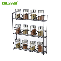 spice rack holder in kitchen 3 tiers powder coating
