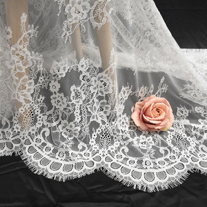 2018 White French Wedding Bridal Chantilly Lace Fabric