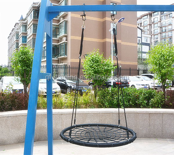 Outdoor Spider Web Swing Tree Round Metal Seat