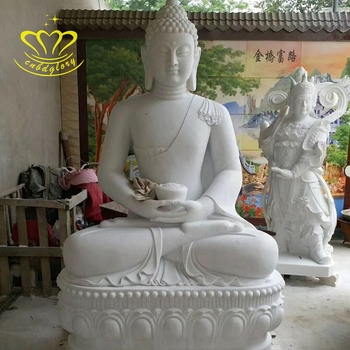 Large temple Garden home Decor Stone crafts New product Life Size Marble Buddha Statue for Sale