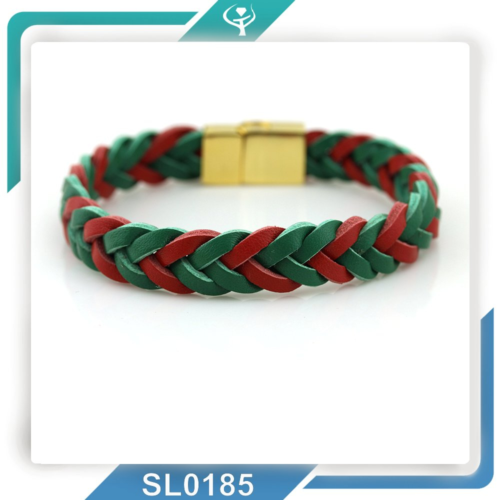 2015Popular amazing Fashion jewel!Genuine Leather handmade wide colorful braided bracelet with real quality and soon shipment!