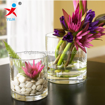 Hand Blown High Quality Clear Cylinder Glass Tube Vase Buy 25cm