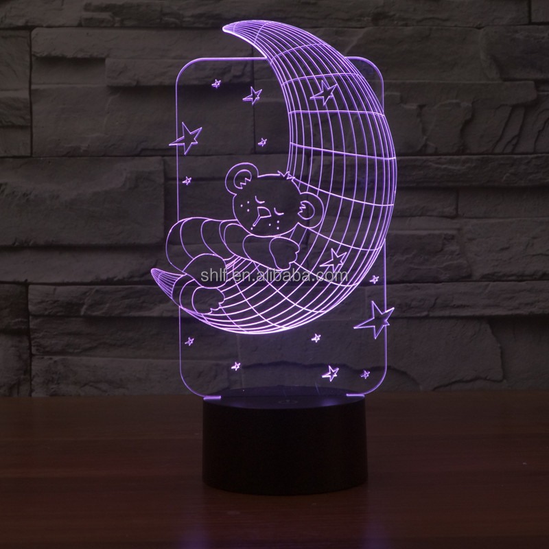 how to order kids gifts usb colorful crystal led light 3d moon lamp 3d