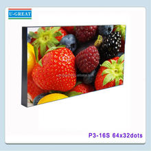 High definition live show led display 64x32 led display module dot matrix p3