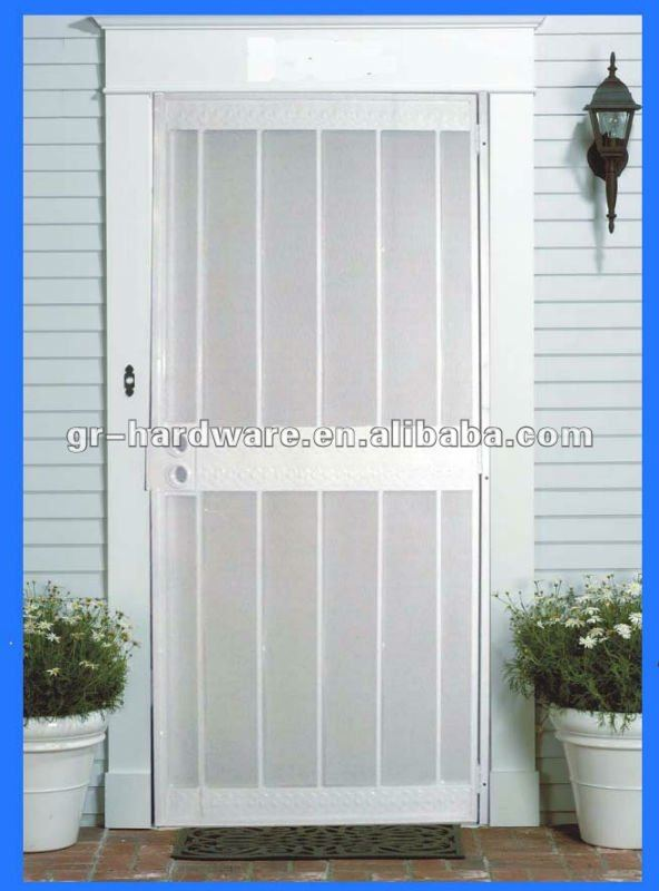 } Brand new exterior door iron with low price way to open the iron door is locked
