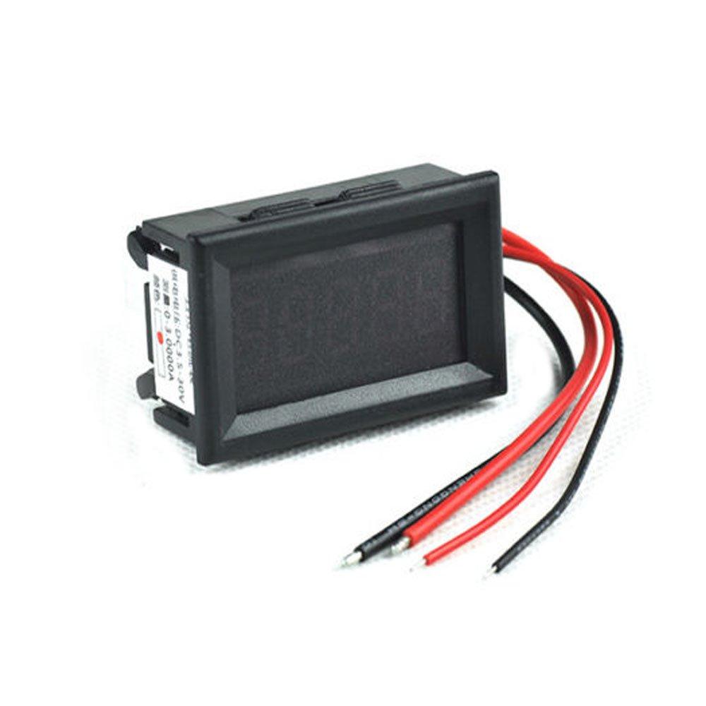 """Solu OVER 4 2/1 Digital Ampere Panel Meter Ammeter 0-3.0000A DC LED 3.5-30V 0.36"""" Red// 0.36"""" 5 Digit Built-in Current Shunt Digital Dc Ammeter Amp Ampere Electric Meter 0-3.0000a RED LED Tester//5 digit DC 0-3.0000A Digital ammeter red led amp meter Ampere current Monitor"""