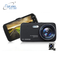 2019 Best Seller 4.0 Inch user manual full hd 1080p Dual Lens Spy Hidden Front Rear Car Camera DVR with Night Vision Dashcam