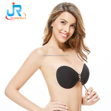 2017 Hot Selling Silicone Adjustable Max Cleavage Stick on Push Up Bra Backless Strapless Bra