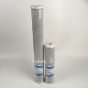 Activated carbon filter for domestic drinking water
