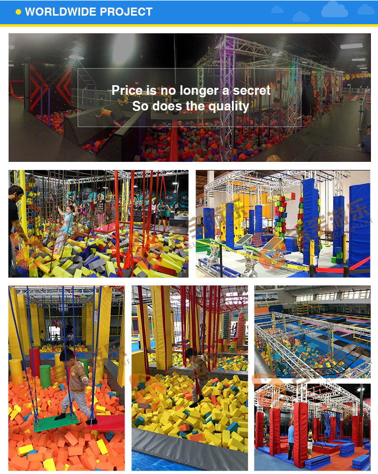 High quality indoor playground commercial kids warrior course equipment for exercise