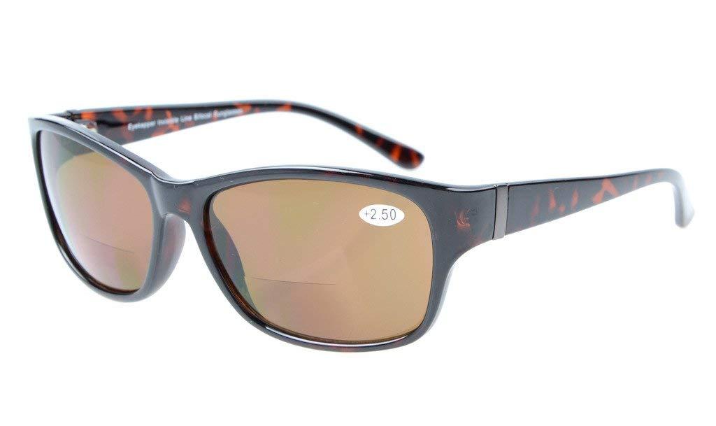d9aecf0075 Eyekepper SunReaders Polarized Bifocal Sunglasses Tortoise +2.0