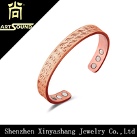 Wide copper bracelets for arthritis,mens copper bracelet wholesale