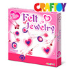 Children crafts Create your own Heart style felt jewelry making