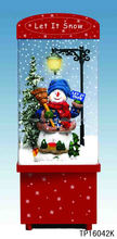 42 CM TABLETOP SNOWING CHRISTMAS DECORATION WITH SNOWMAN