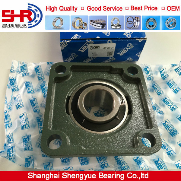 """Quality square flanged 1-1//2/"""" UCF208-24  UCF208 Pillow block bearing ucf"""