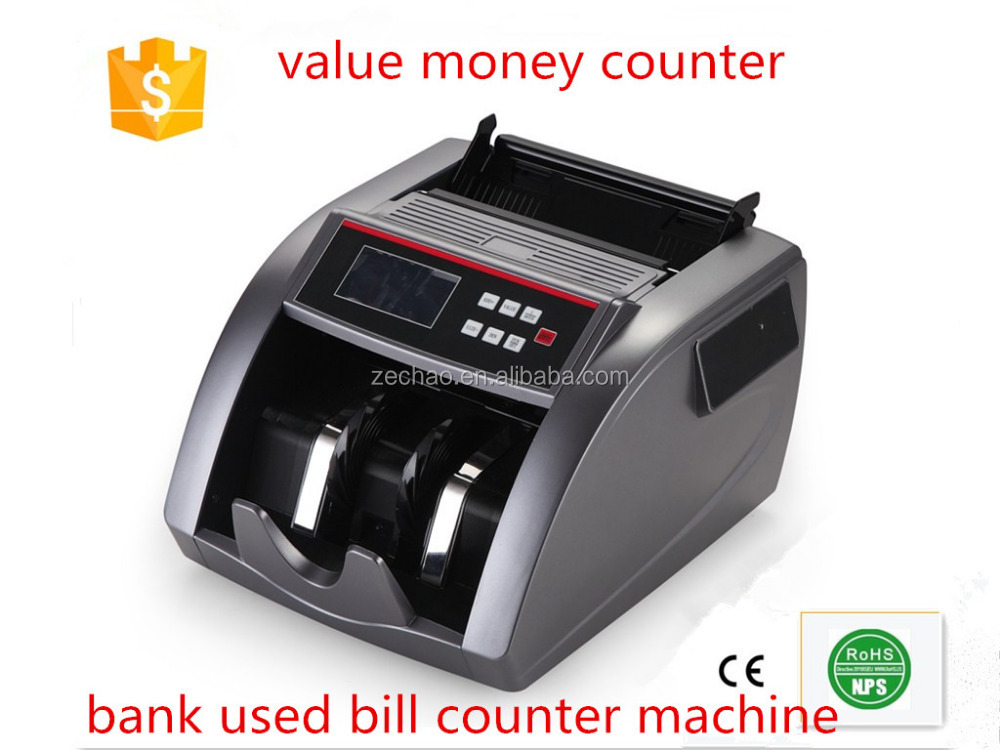 CE ROHS approval value money counter cash register bank popular used 2016 new design bill counter intelligent banknote counter
