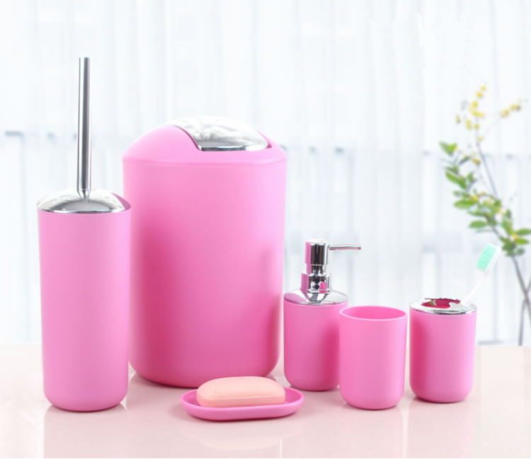 Incroyable Hot Selling Pink Bathroom Accessories Set For Home And Hotel Use
