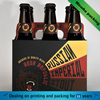 custom Cardboard six Beer Bottles Display Carry Holder