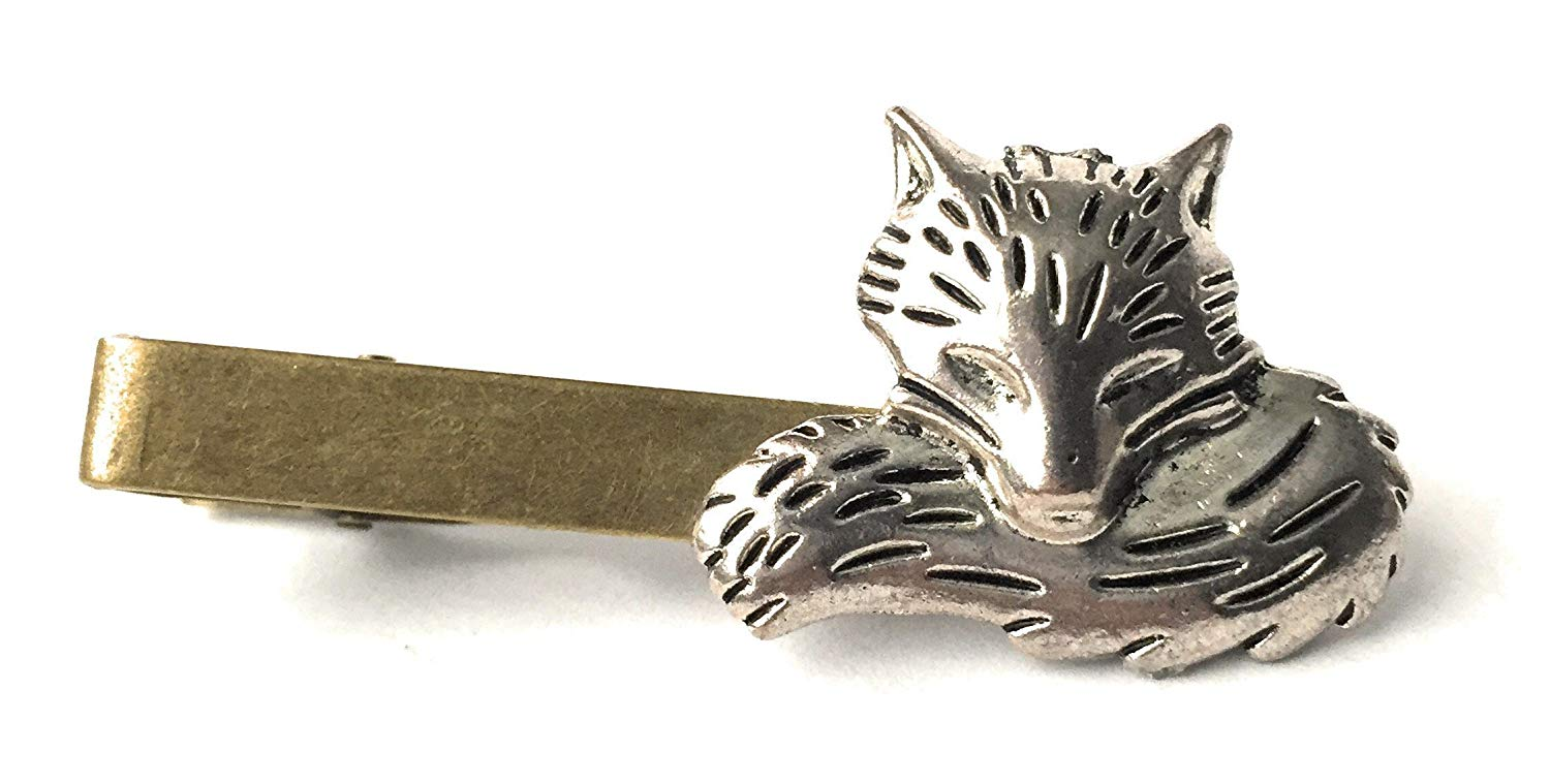 dca0154c7e26 25th Anniversary Gifts for Men Fox Tie Clip By Arcanum By Aerrowae -  Antique Gold Tie