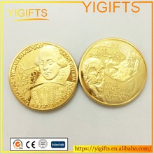 William Shakespeare coin United Kingdom Gold Plated Souvenir Coin Great Britain gift