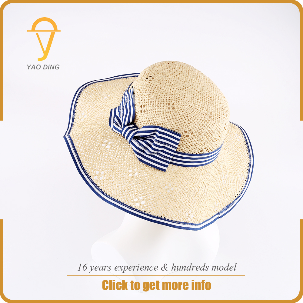 Yaoding headwear 2017 bangkok promotional famous brand name cheap price custom soft high quality kids straw hat