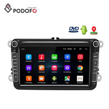 Podofo Android 8.1 8 ''2 Din Autoradio Autoradio <span class=keywords><strong>Auto</strong></span> Dvd <span class=keywords><strong>Speler</strong></span> Gps Wifi Bluetooth Ontvanger Voor Vw Passat polo Golf 5 6