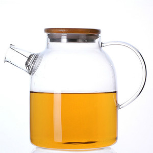 Large capacity high borosilicate clear glass teapot water pot