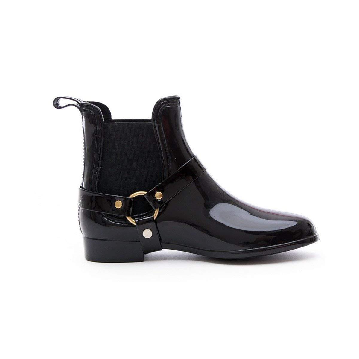 5c1e6b1b905d Get Quotations · Soho Shoes Women s Fashion Low Cut Ankle Rain Boots with  Straps