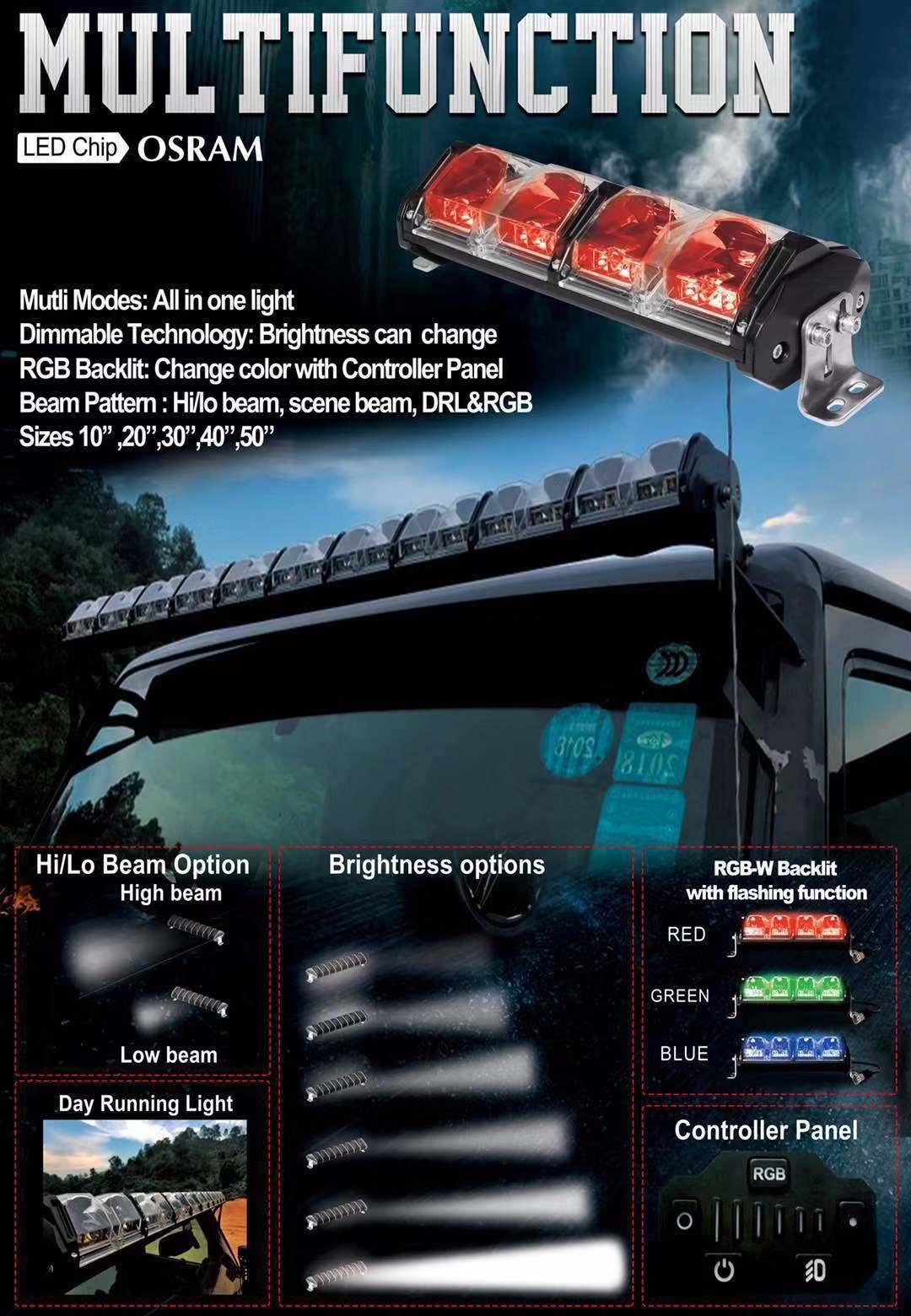 2019 new Aurora 40inches led bar 4x4 off road buggy evolve light bar