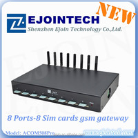 voip gateway GOIP-8 the lowest price gateway with good quality voip soft switch 4 FXS port FXO