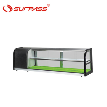 Portable Counter top sushi refrigerator display cooler showcase