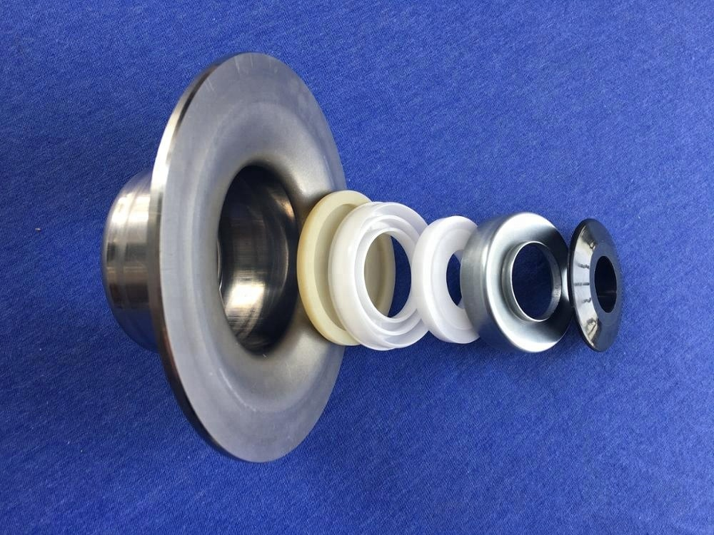 Stainless steel conveyor roller bearing house/ end caps