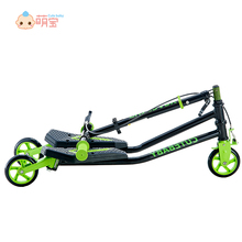 Kids three wheeled frog-style drift fitness scooters for sale