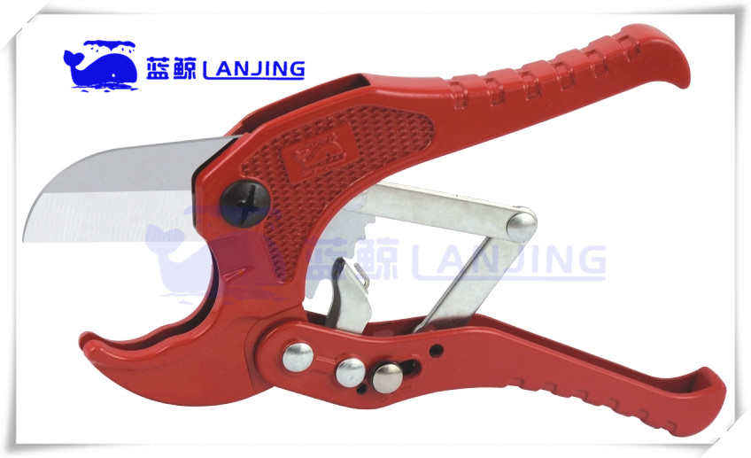 42mm 65Mn Blade PPR PVC Plastic Pipe Tube Scissors Cutter A05 with Locking Button on Handle