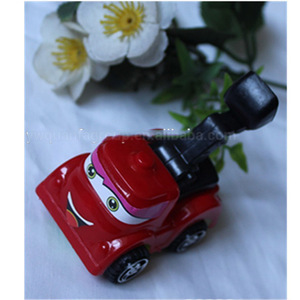 Hot selling cheap mini plastic engineering pull back car toy for gashapon