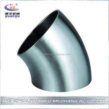 SMS Stainless Food garde Weld 45 Degree Bend Pipe Fitting Elbow