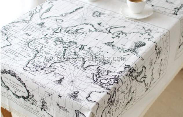 Wholesale linen cotton world map printed fabric for table buy wholesale linen cotton world map printed fabric for table gumiabroncs Image collections