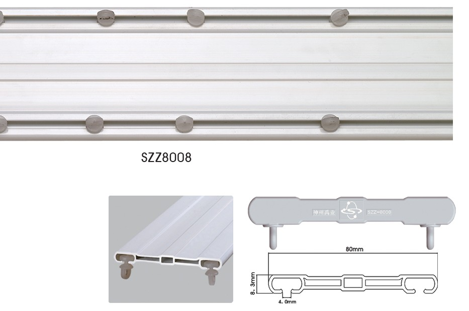 Good Sliding Hospital Curtain Track Plastic Double Curtain Track