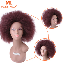 Kanekalon Fiber Synthetic Wigs style African American Short Curly Wig