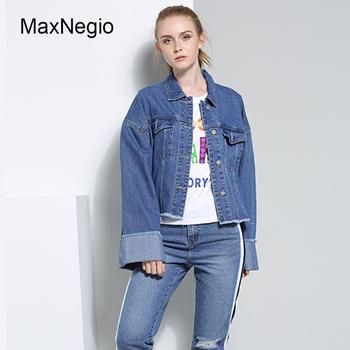 Maxnegio Women Plain Cropped Denim Jacket - Buy Custom Denim Jacket,Women  Jeans Jacket,Plain Denim Jacket Product on Alibaba com