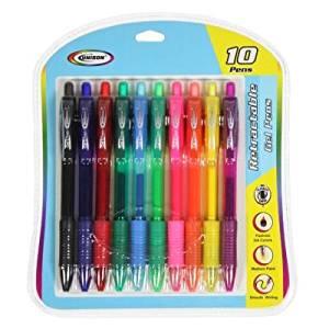 Unison .7mm Retractable Gel Pens - 10 Unique Colors