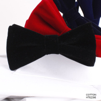 Fashion Men's Tuxedo Cotton Velvet Bow Tie China Manufacturers