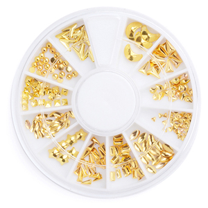 Japan Shell Sea Style 3D Salon Nail Art Fine Studs Gold silver wheel Metal Alloy Glitter Charm DIY Beauty Manicure Decoration