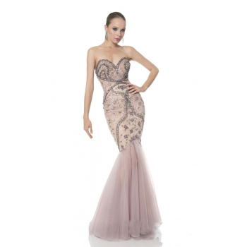 bdc5eb58f66c Elegant Sweetheart Long Mermaid Pink Wedding Dresses Fish Cut Gown
