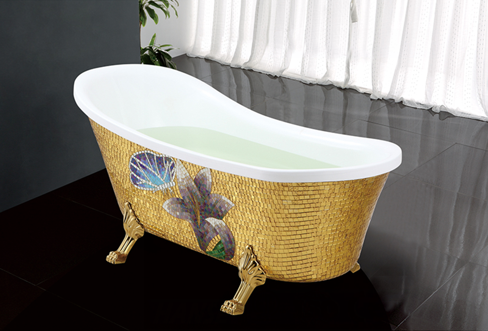 Hs b511 2 fiberglass claw foot tub french slipper bathtub for Bathtub size in feet